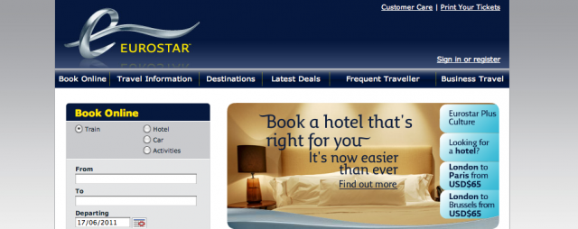 Eurostar Hotel Booking