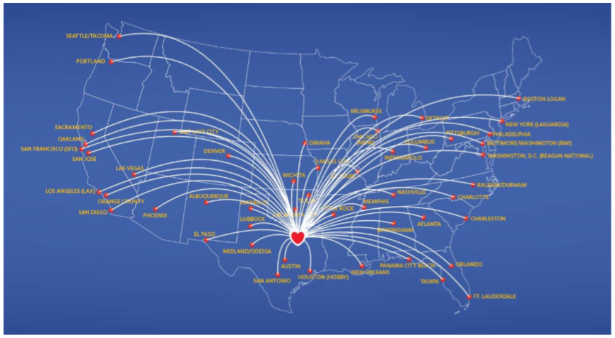 southwest airlines expansion strategy Southwest airlines began with the march 15, 1967, incorporation of air southwest co by rollin king and herb kelleher to fly within the state of texas.